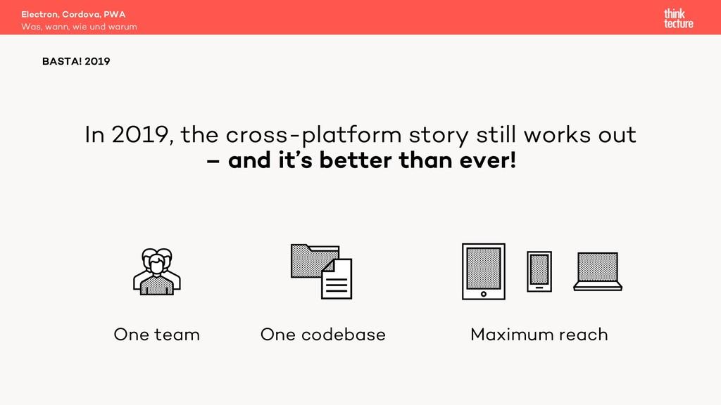 In 2019, the cross-platform story still works o...