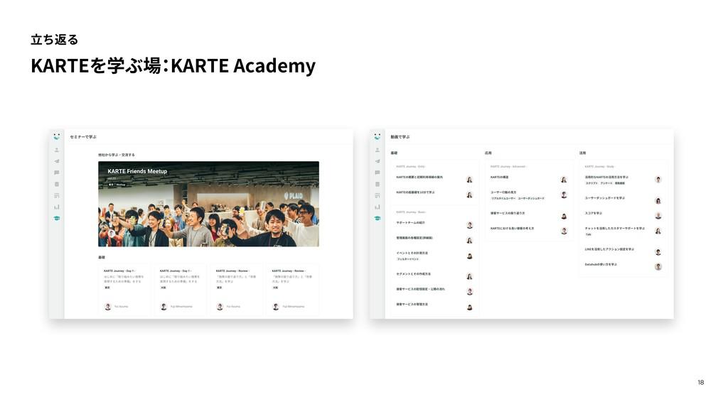 18 ⽴ち返る KARTEを学ぶ場 : KARTE Academy