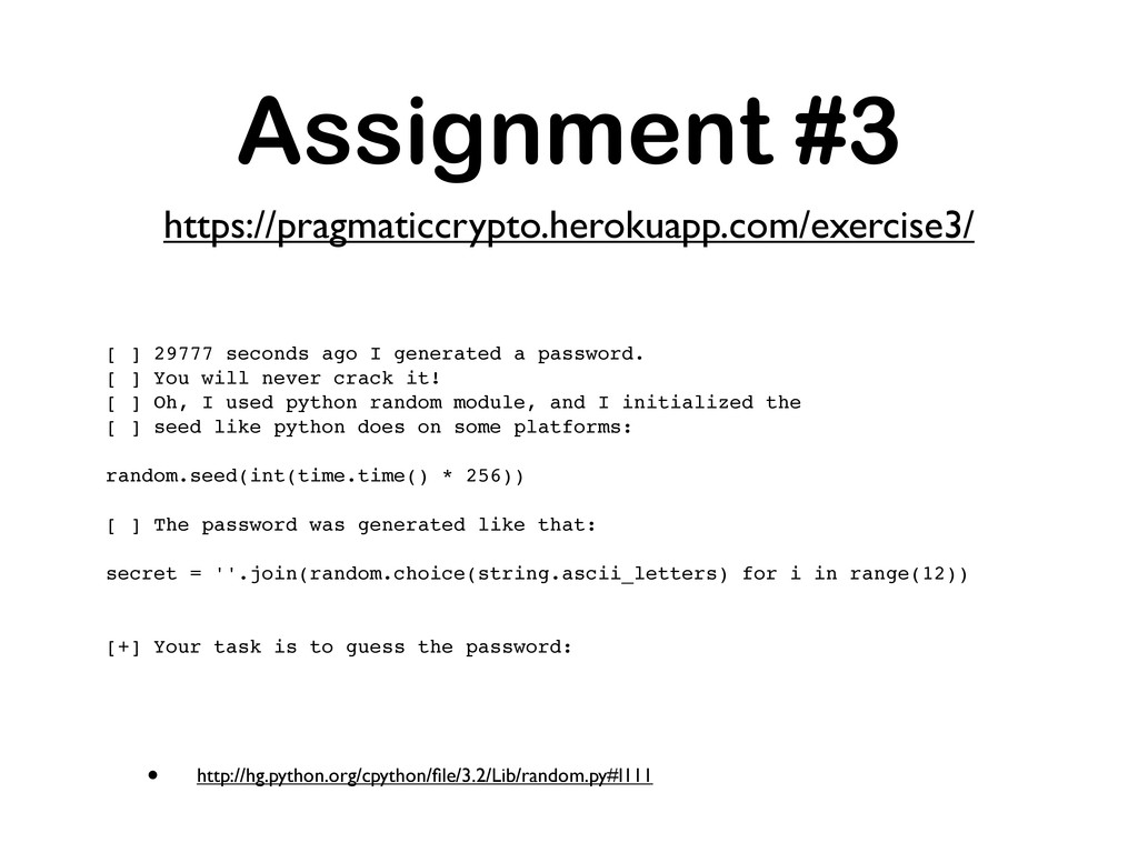 • http://hg.python.org/cpython/file/3.2/Lib/rand...