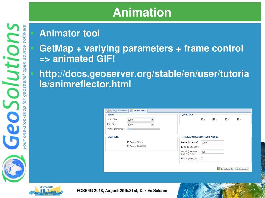 Animation • Animator tool • GetMap + variying p...