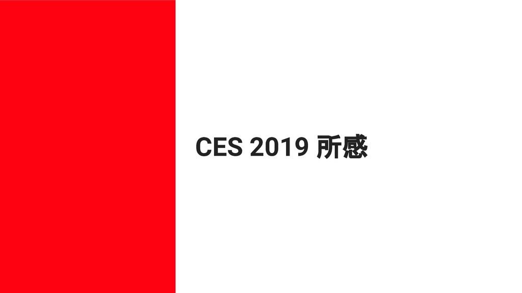 CES 2019 所感