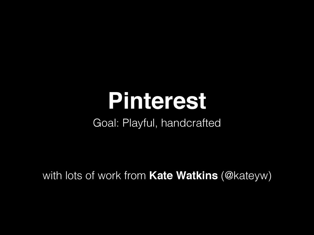 Pinterest Goal: Playful, handcrafted ! ! ! with...