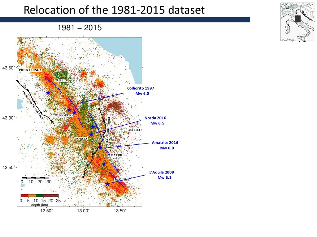 Relocation of the 1981-2015 dataset Norcia 2016...