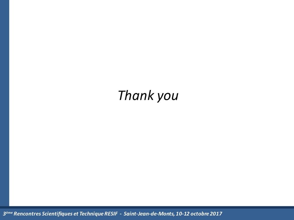 Thank you 3ème Rencontres Scientifiques et Tech...