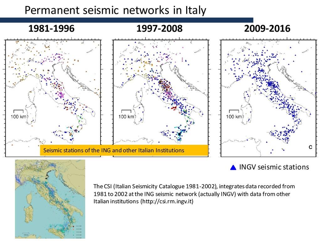 1981-1996 1997-2008 2009-2016 INGV seismic stat...
