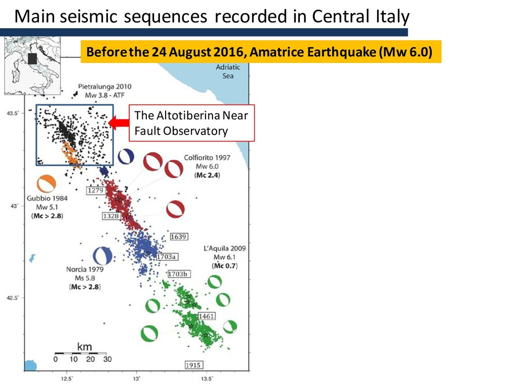Main seismic sequences recorded in Central Ital...