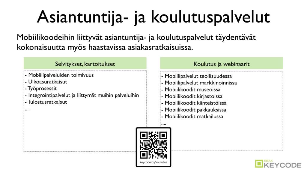 Asiantuntija- ja koulutuspalvelut Selvitykset, ...