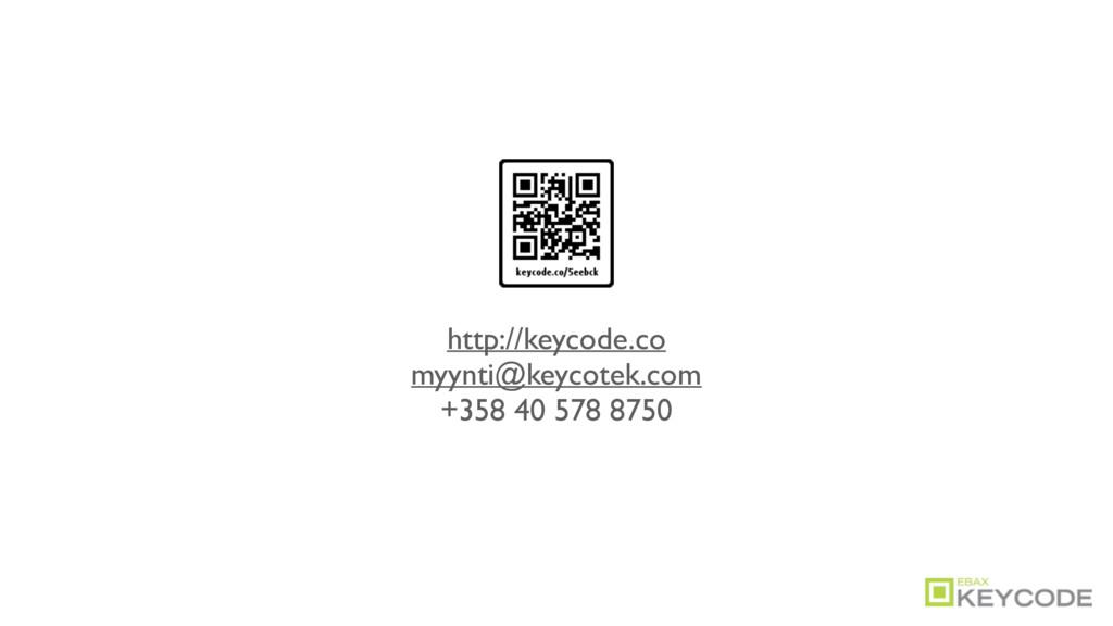 http://keycode.co myynti@keycotek.com +358 40 5...