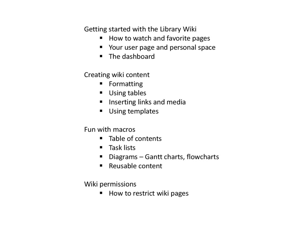 Getting started with the Library Wiki  How to ...