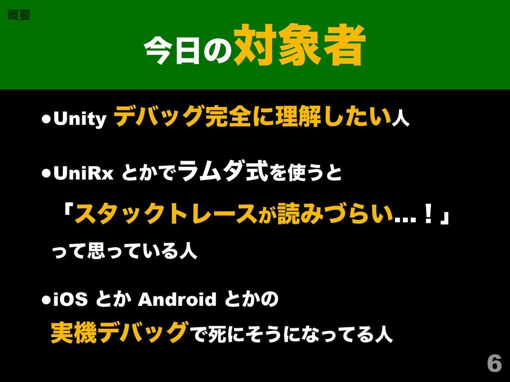 •Unity σόοάશʹཧղ͍ͨ͠ਓ •UniRx ͱ͔ͰϥϜμࣜΛ͏ͱ ʮελοΫτ...