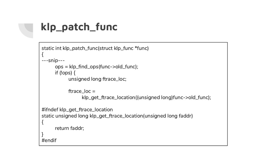 klp_patch_func static int klp_patch_func(struct...