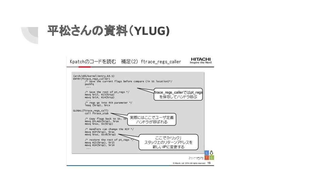 平松さんの資料(YLUG)