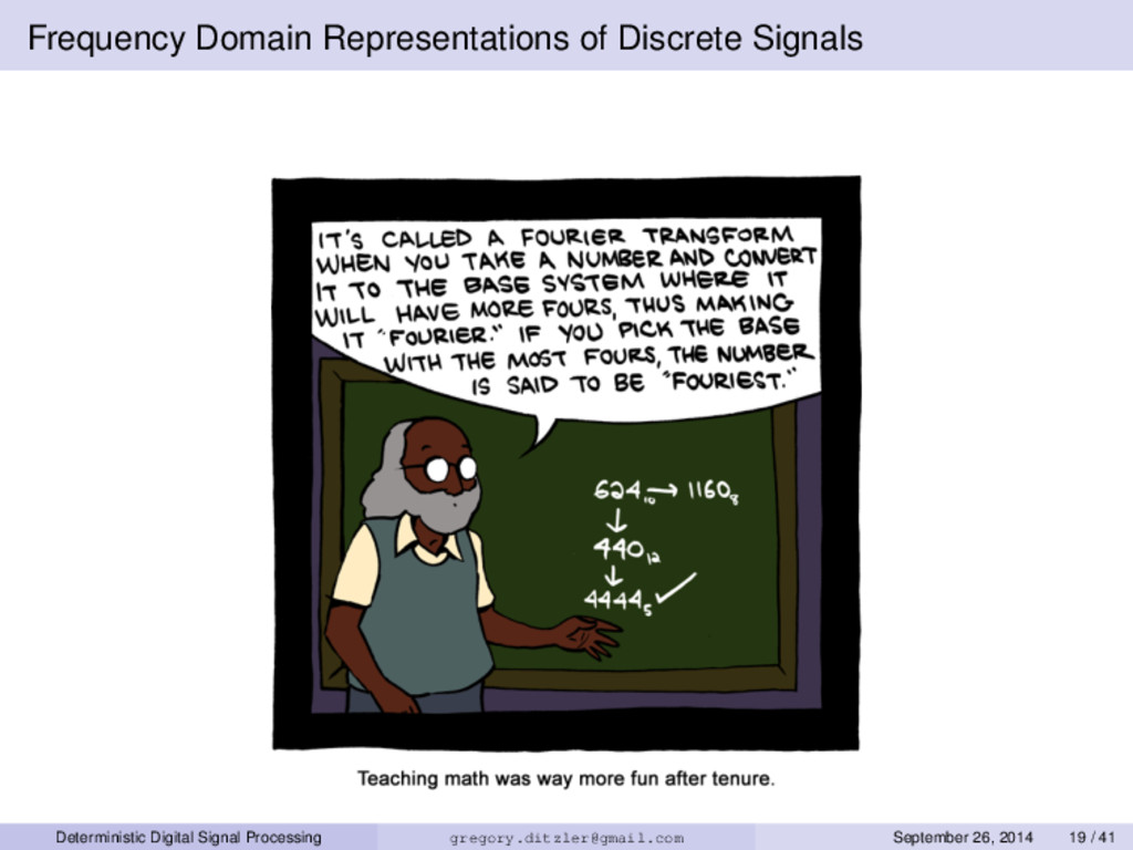 Frequency Domain Representations of Discrete Si...