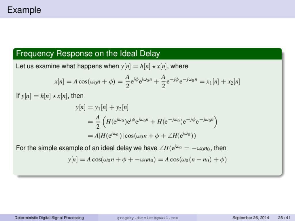 Example Frequency Response on the Ideal Delay L...