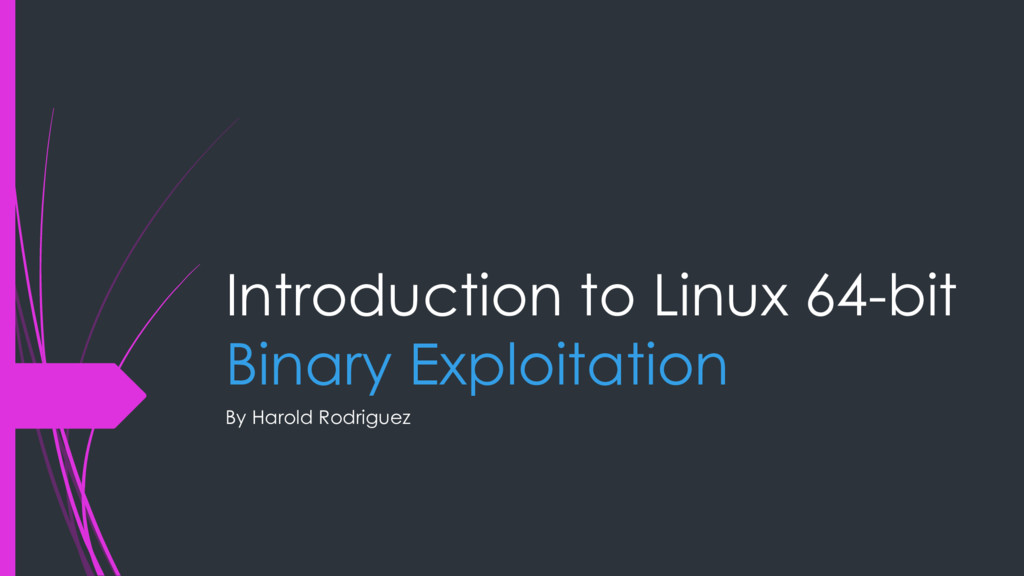 Introduction to Linux 64-bit Binary Exploitatio...