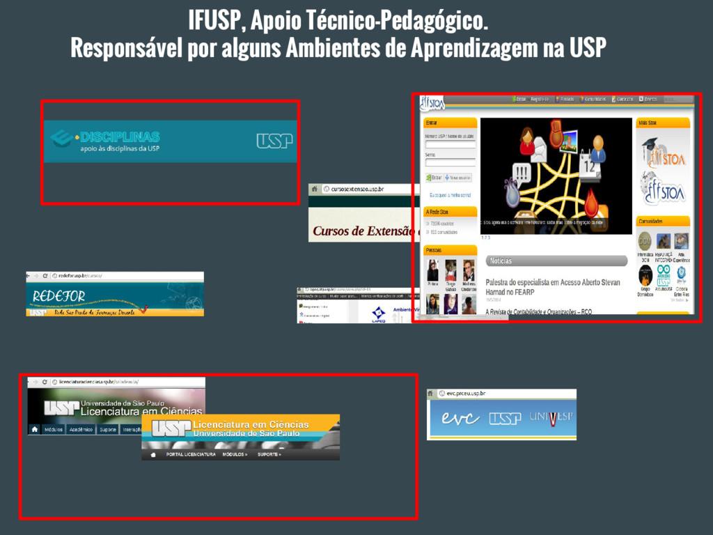IFUSP, Apoio Técnico-Pedagógico. Responsável po...