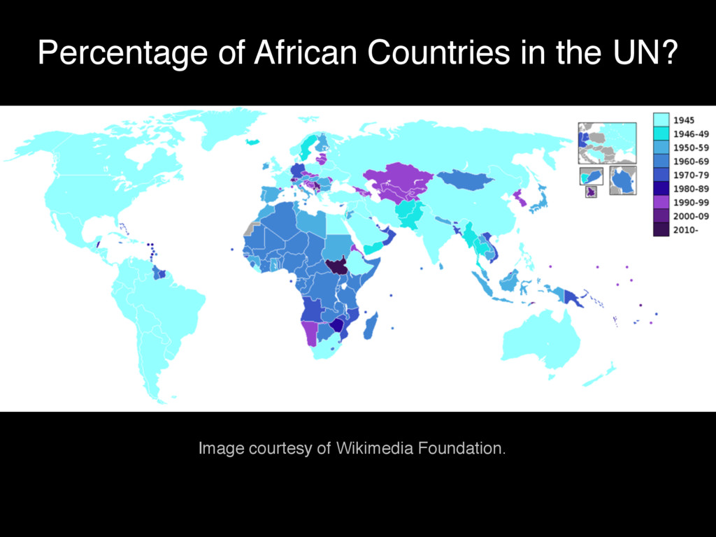 Percentage of African Countries in the UN? Imag...