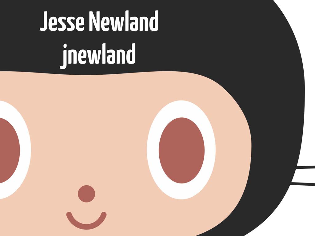 Jesse Newland jnewland