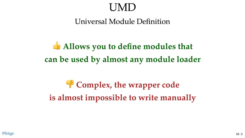 Allows you to define modules that can be used by...