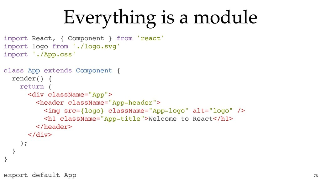 Everything is a module Everything is a module i...