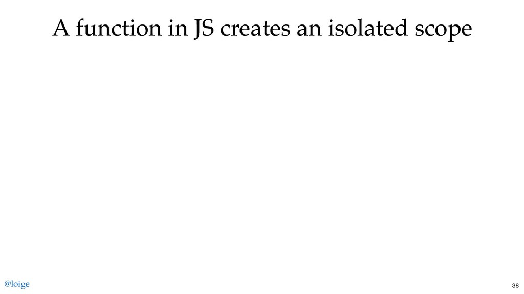 A function in JS creates an isolated scope A fu...