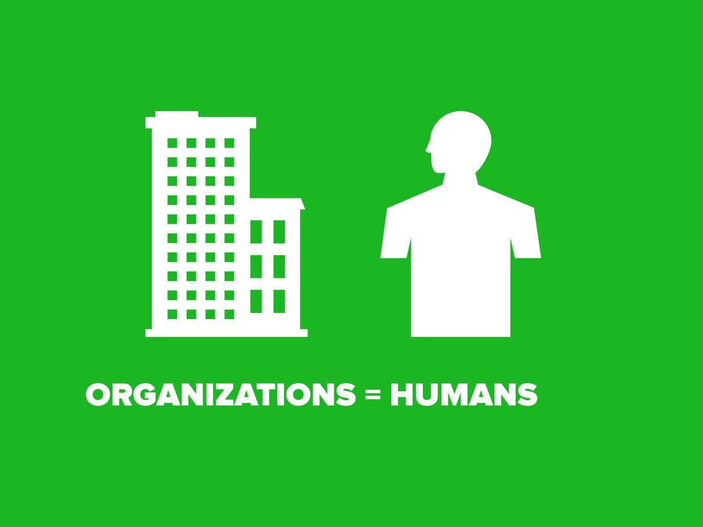 ORGANIZATIONS = HUMANS