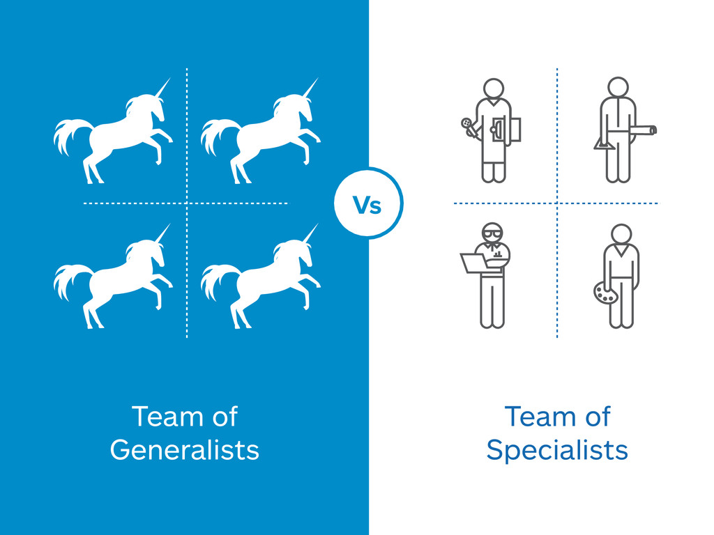 Vs Team of Generalists Team of Specialists