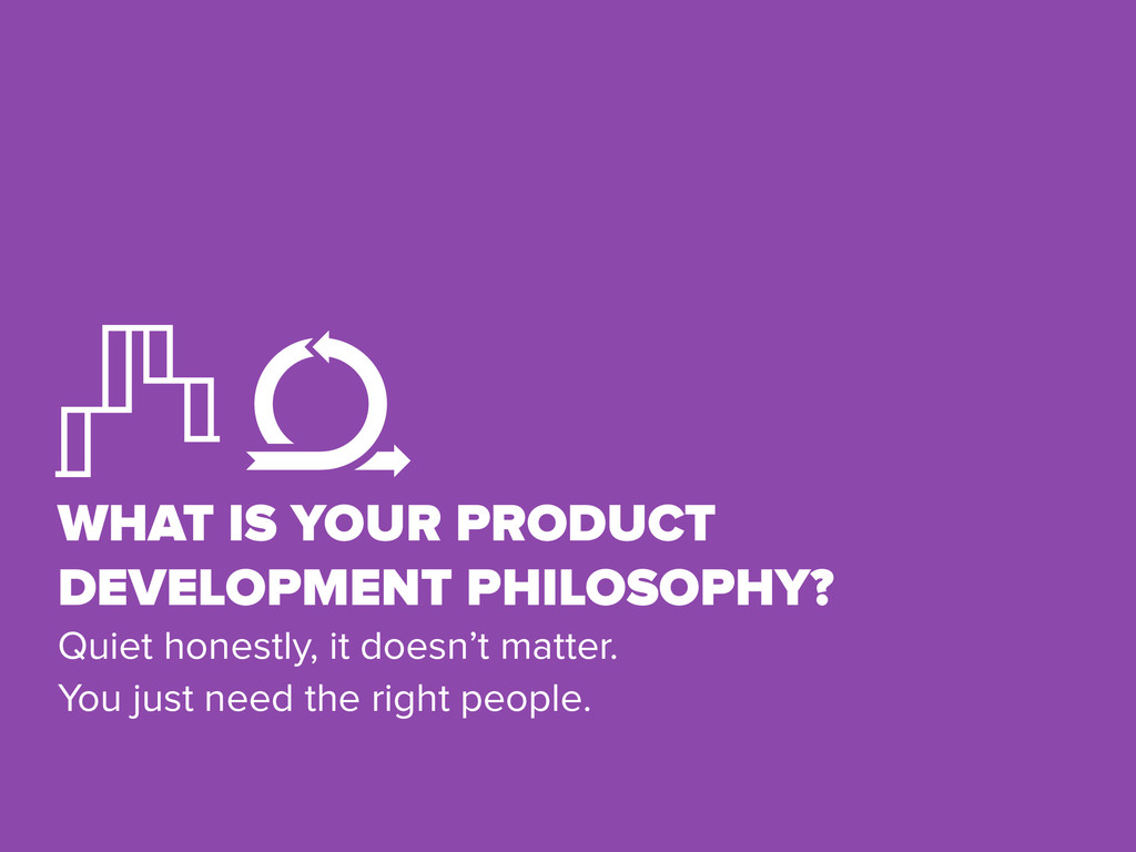 WHAT IS YOUR PRODUCT DEVELOPMENT PHILOSOPHY? Qu...