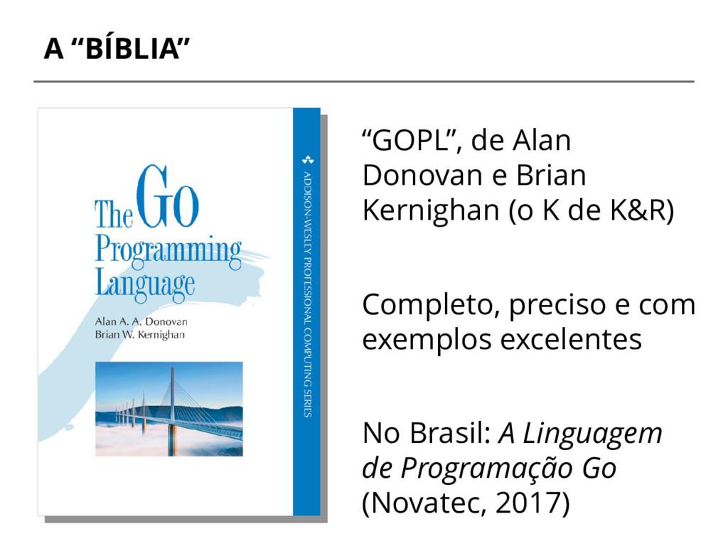 "A ""BÍBLIA"" ""GOPL"", de Alan Donovan e Brian Kern..."