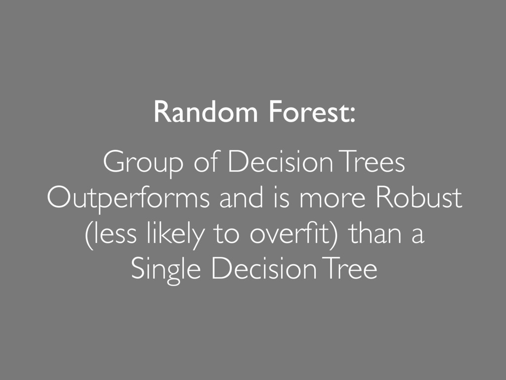 Random Forest: Group of Decision Trees Outperfo...