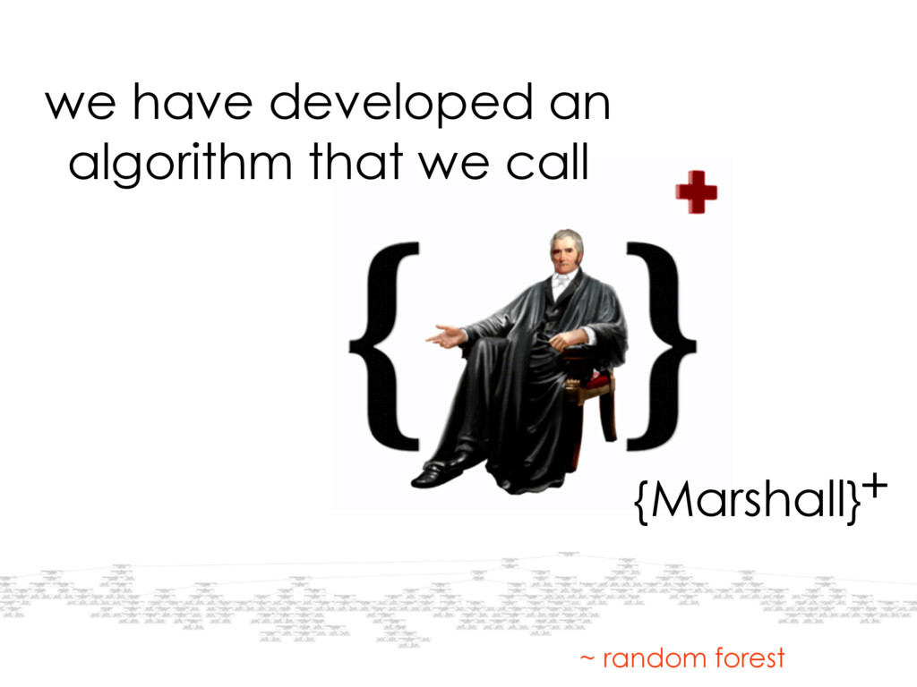 we have developed an algorithm that we call {Ma...