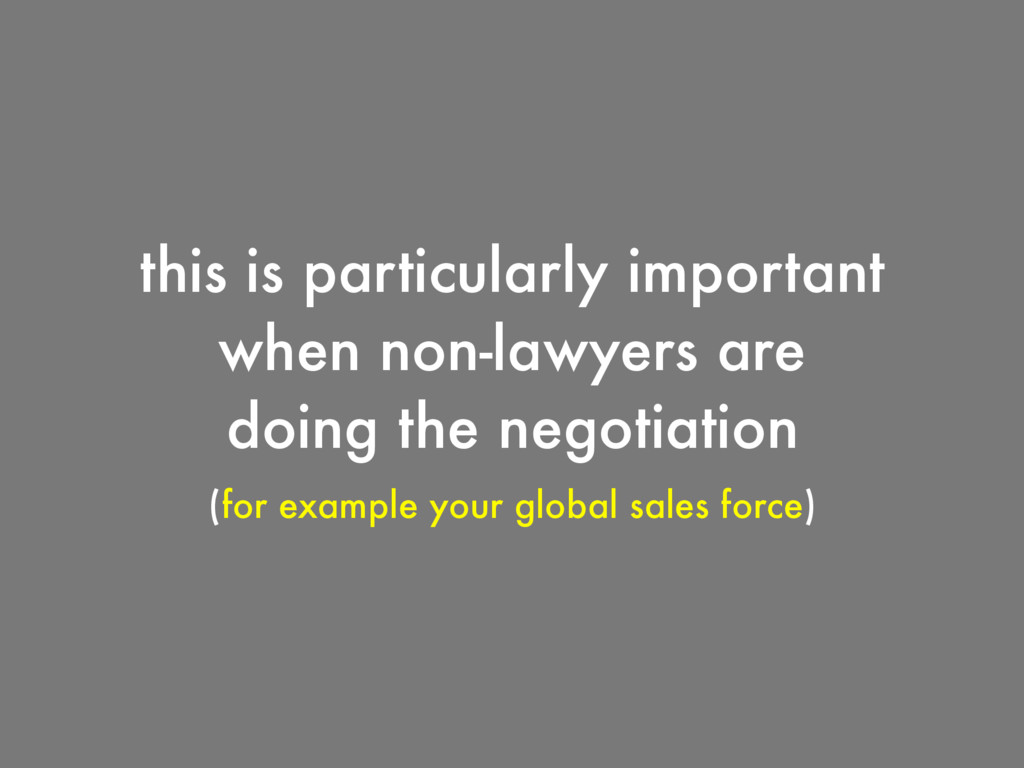this is particularly important when non-lawyers...