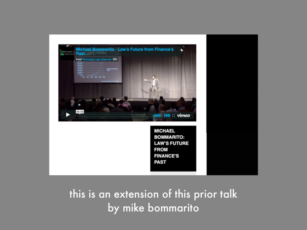 this is an extension of this prior talk by mike...