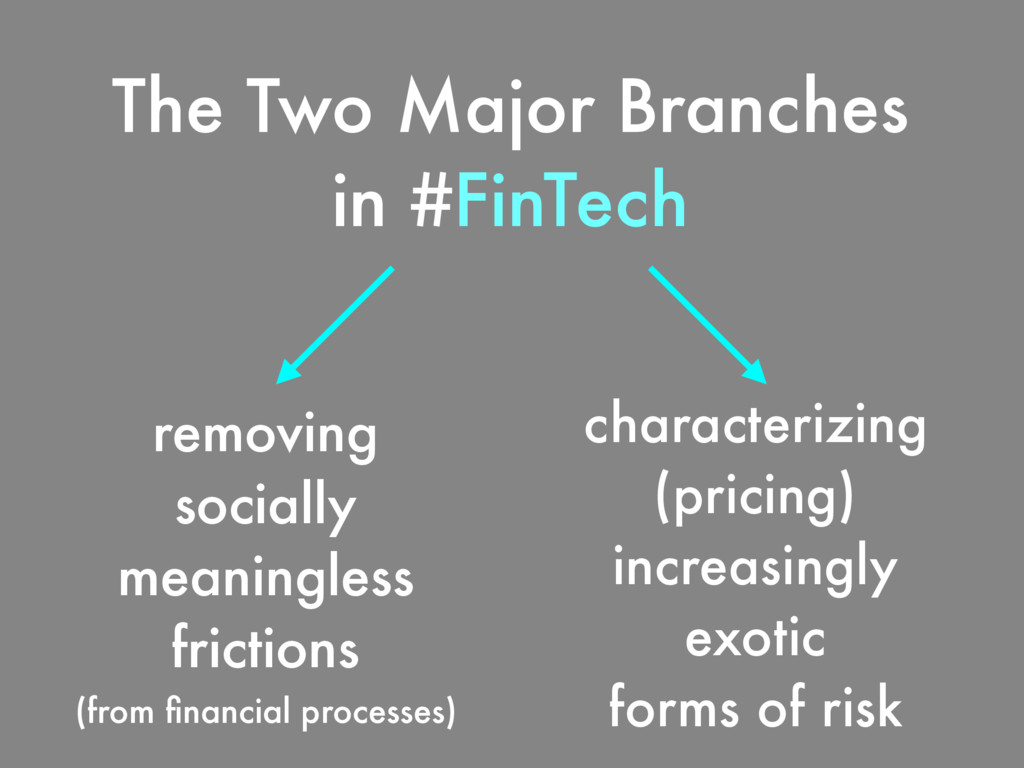 The Two Major Branches in #FinTech removing soc...