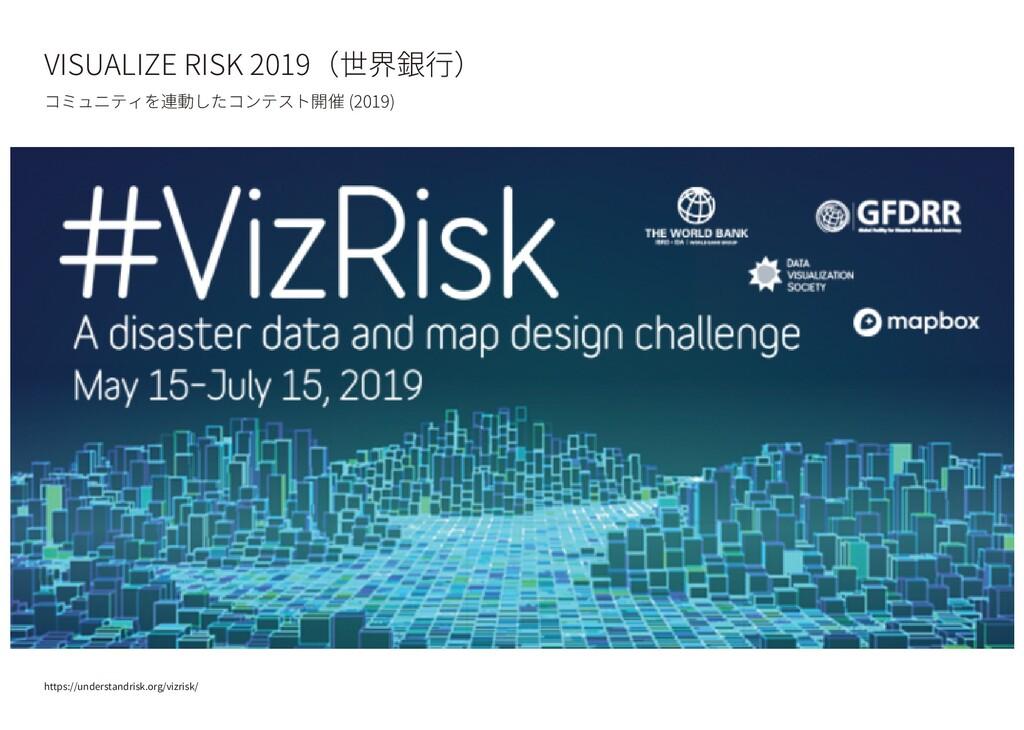 VISUALIZE RISK 2019(世界銀行) コミュニティを連動したコンテスト開催 (2...