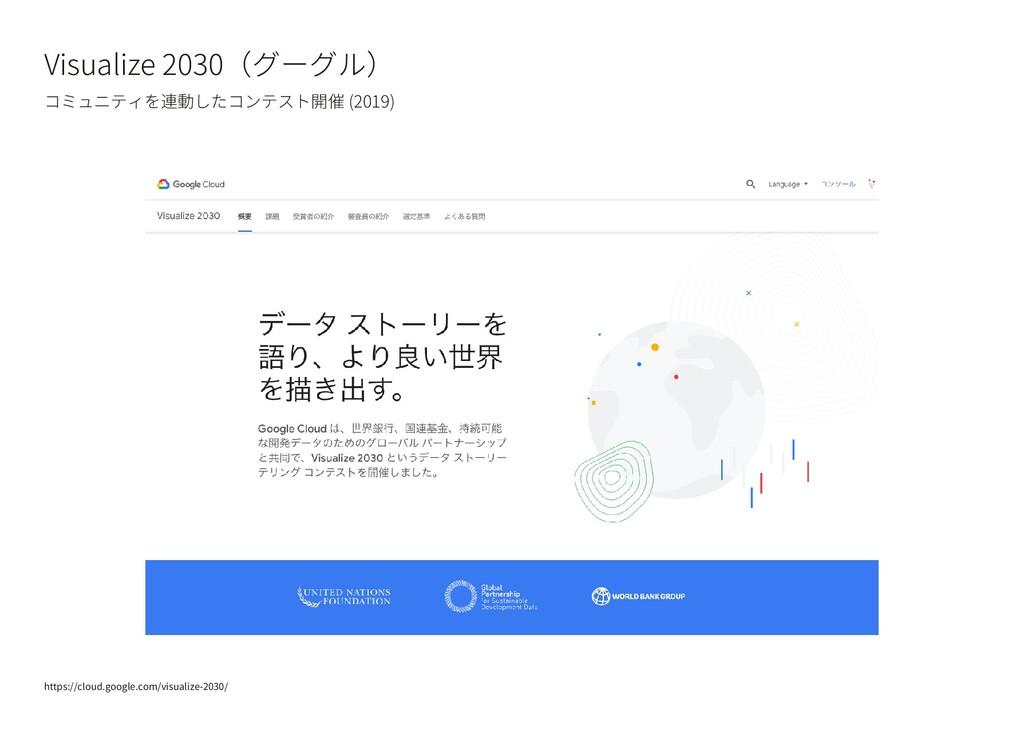 Visualize 2030(グーグル) コミュニティを連動したコンテスト開催 (2019) ...