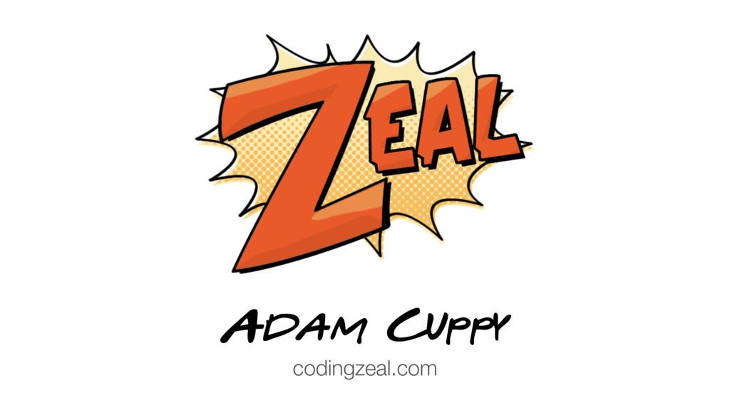 Adam Cuppy codingzeal.com