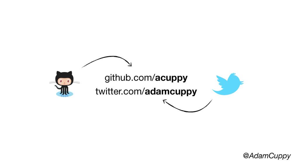 @AdamCuppy github.com/acuppy twitter.com/adamcu...