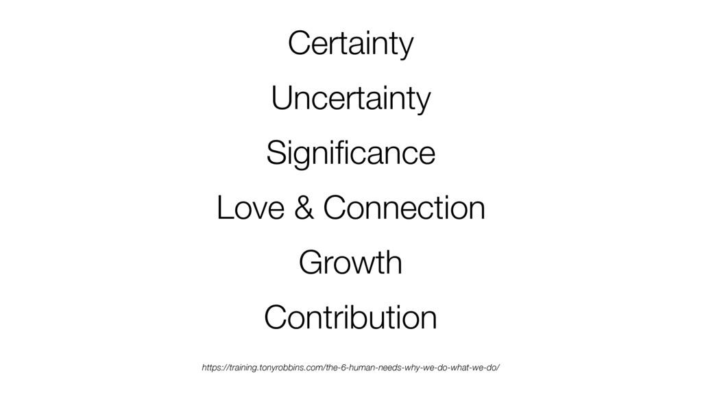 Certainty Uncertainty Significance Love & Connec...