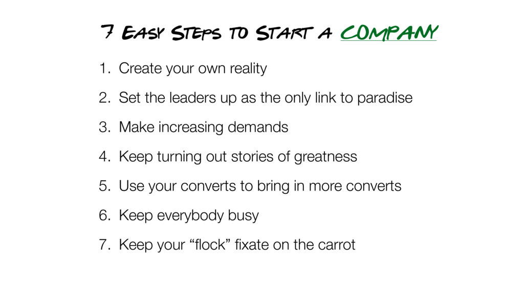 7 Easy Steps to Start a COMPANY 1. Create your ...