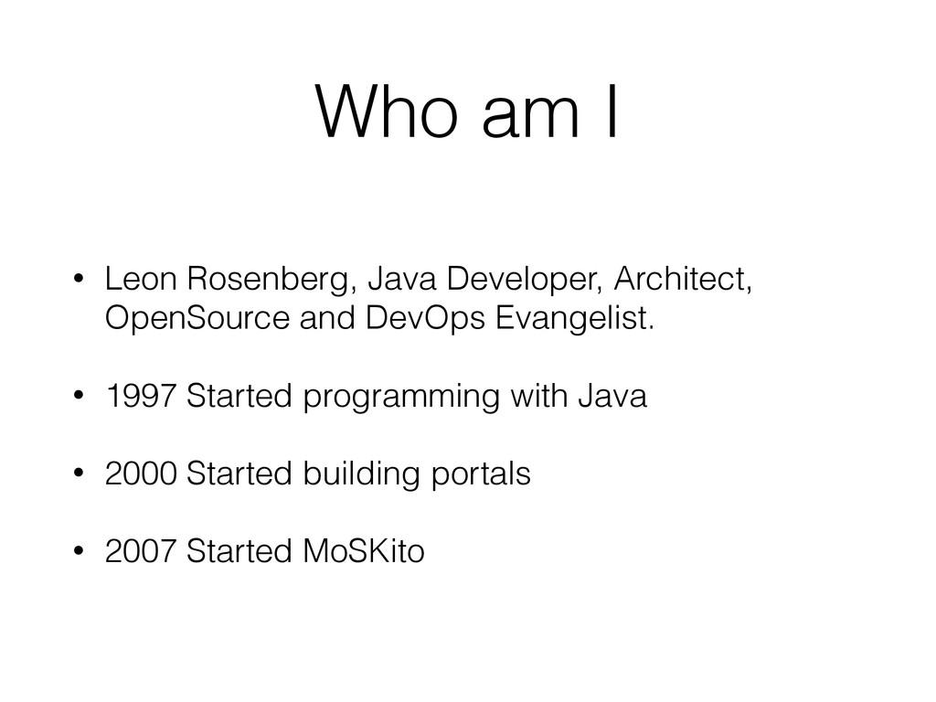 Who am I • Leon Rosenberg, Java Developer, Arch...