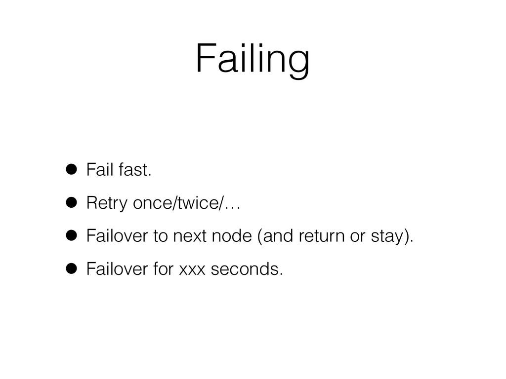 Failing • Fail fast. • Retry once/twice/… • Fai...