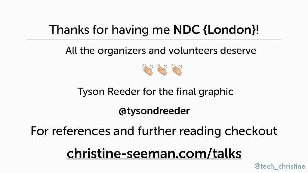 @tech_christine Thanks for having me NDC {Londo...
