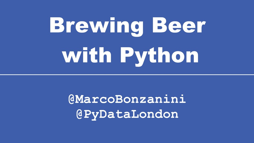 Brewing Beer