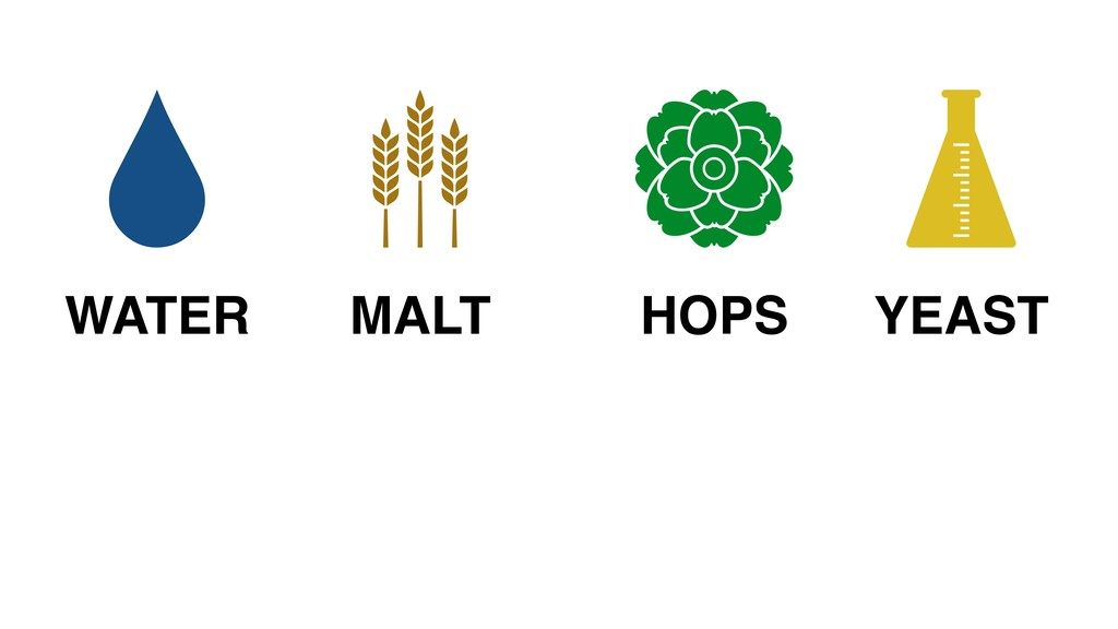 MALT WATER HOPS YEAST