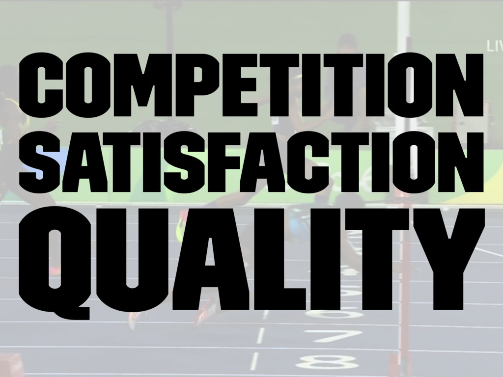Competition Satisfaction Quality