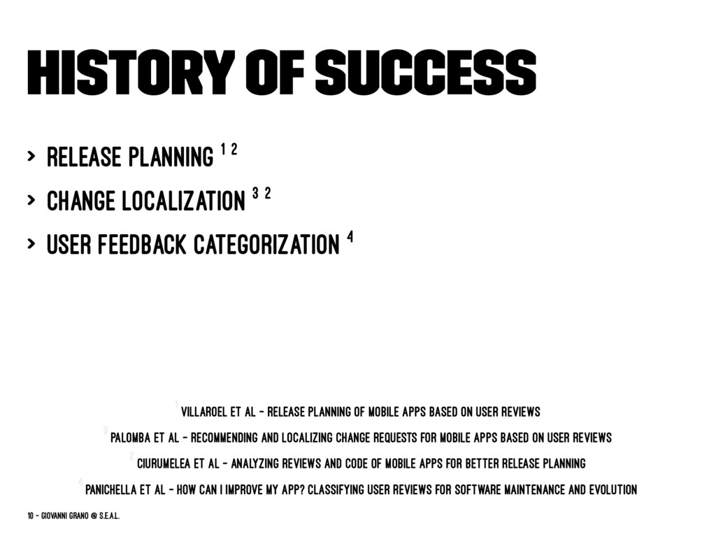 History of success > release planning 1 2 > cha...