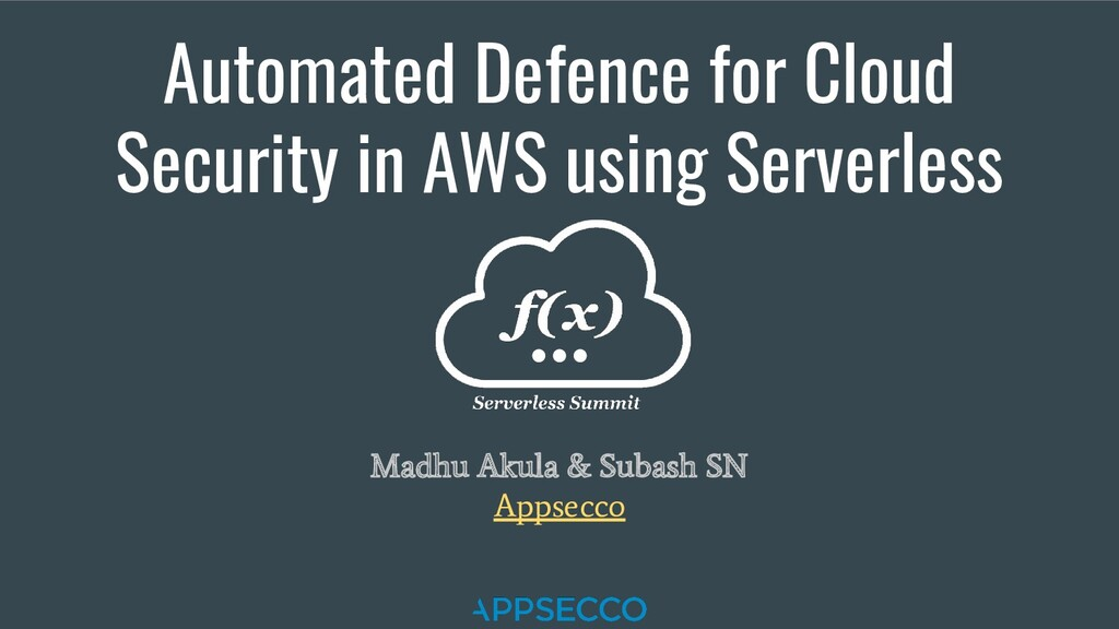 Automated Defence for Cloud Security in AWS usi...