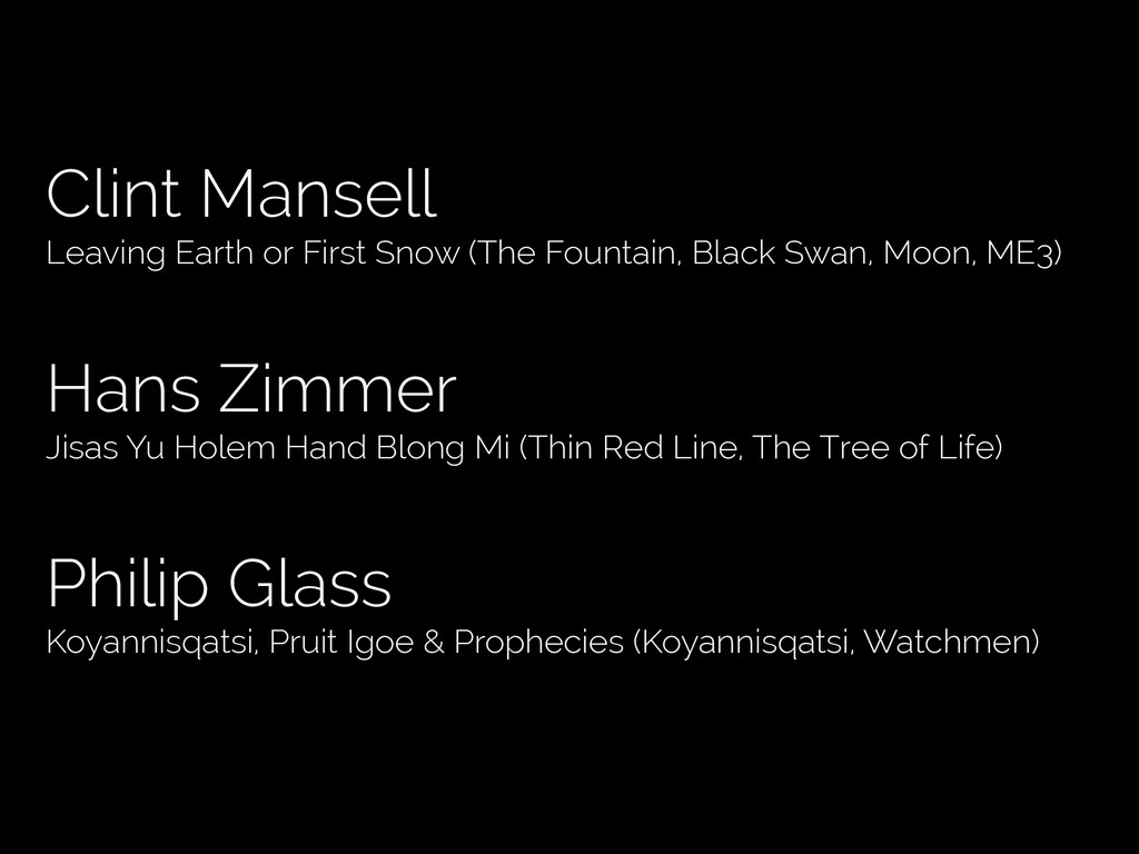 Clint Mansell Leaving Earth or First Snow (The ...