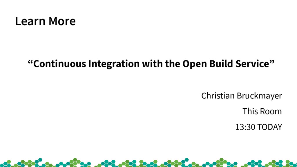 """Learn More """"Continuous Integration with the Ope..."""